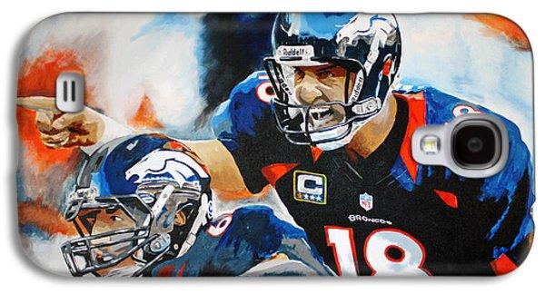 Peyton Manning Galaxy S4 Case by Don Medina