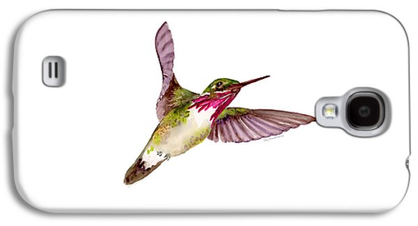 Calliope Hummingbird Galaxy S4 Case by Amy Kirkpatrick