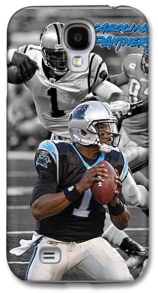 Cam Newton Panthers Galaxy S4 Case by Joe Hamilton