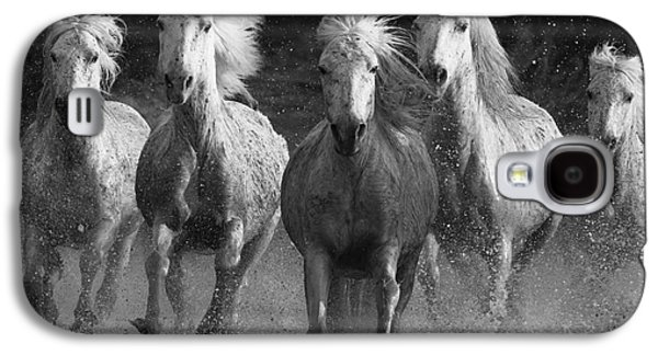 Horse Galaxy S4 Case - Camargue Horses Running by Carol Walker