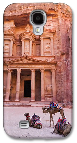 Camel At The Facade Of Treasury (al Galaxy S4 Case by Keren Su