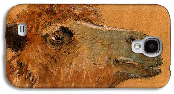 Camel Galaxy S4 Case - Camel Head Study by Juan  Bosco