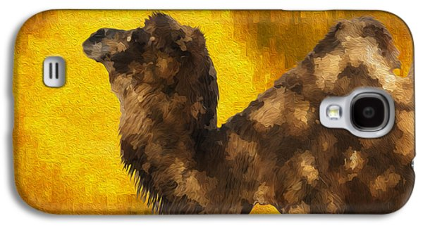 Camel In Desert Sun Galaxy S4 Case by Jack Zulli