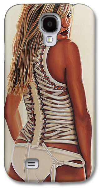 Cameron Diaz Painting Galaxy S4 Case by Paul Meijering