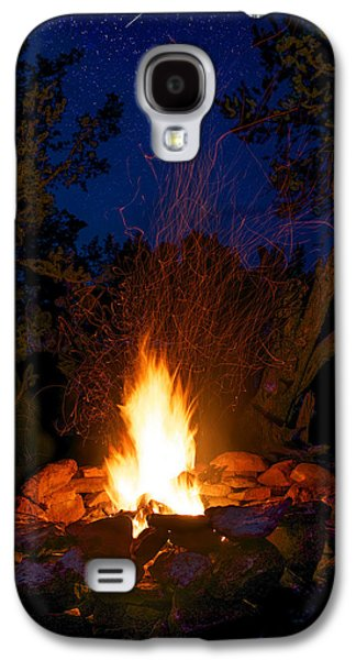 Campfire Under The Stars Galaxy S4 Case