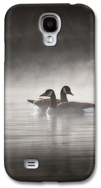 Canada Geese In The Fog Galaxy S4 Case