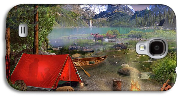 Galaxy S4 Case featuring the drawing Canadian Wilderness Trip by David M ( Maclean )