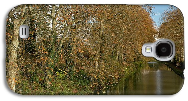 Canal Du Midi And Plane Trees Galaxy S4 Case by Bob Gibbons
