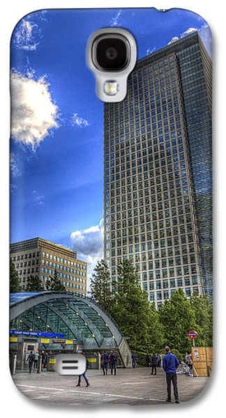 Canary Wharf Station London Galaxy S4 Case by David Pyatt
