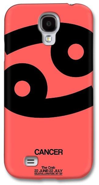Cancer Zodiac Sign Black Galaxy S4 Case by Naxart Studio