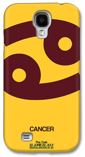 Cancer Zodiac Sign Brown Galaxy S4 Case by Naxart Studio