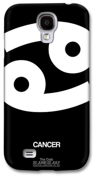 Cancer Zodiac Sign White Galaxy S4 Case by Naxart Studio