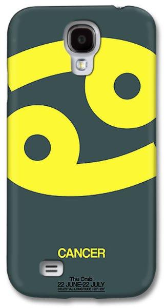 Cancer Zodiac Sign Yellow Galaxy S4 Case by Naxart Studio