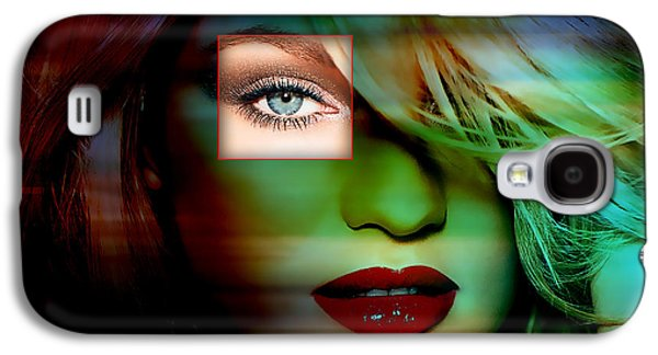 Candice Swanepoel Painting Galaxy S4 Case by Marvin Blaine