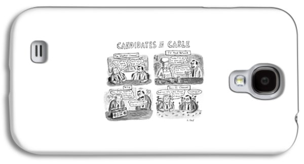 Candidates On Cable Galaxy S4 Case by Roz Chast