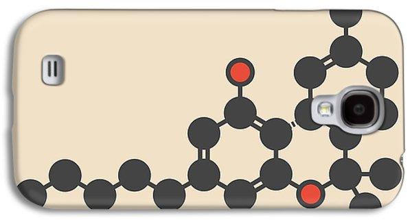 Cannabis Drug Molecule Galaxy S4 Case by Molekuul