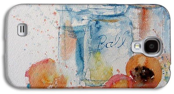 Canning Peaches Galaxy S4 Case by Sandra Strohschein