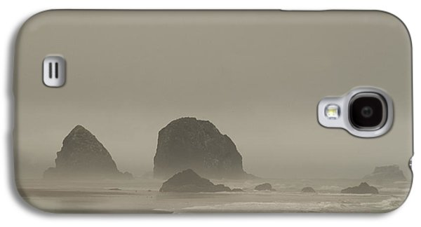 Cannon Beach In A Fog Oregon Galaxy S4 Case