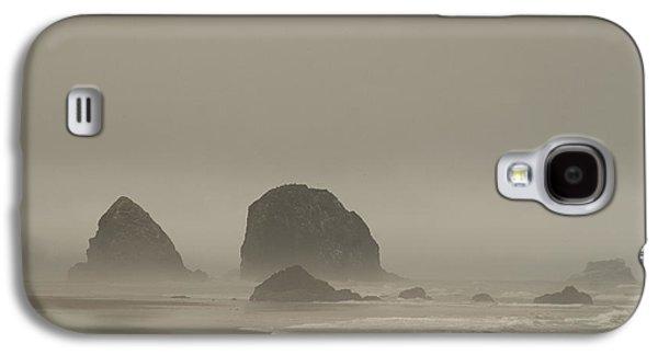 Cannon Beach In A Fog Oregon Galaxy S4 Case