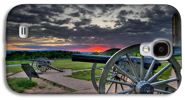 Civil War Galaxy S4 Cases - Canon over Gettysburg Galaxy S4 Case by Andres Leon