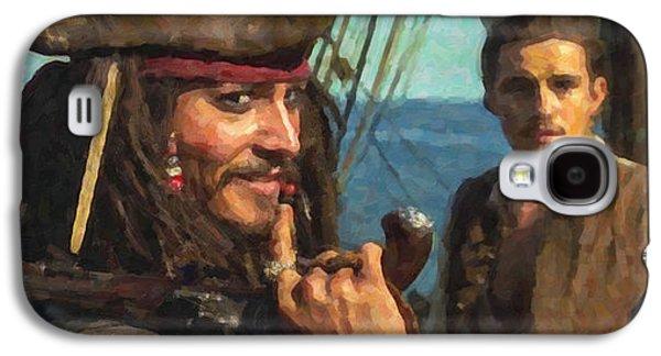 Cap. Jack Sparrow Galaxy S4 Case by Himanshu  Dubey
