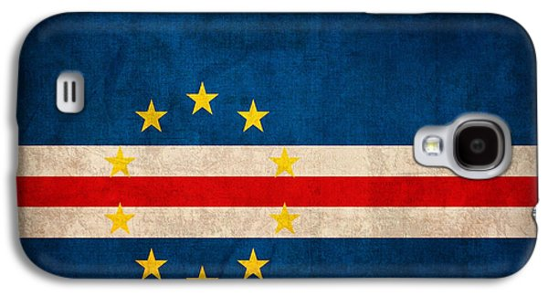 Cape Verde Flag Vintage Distressed Finish Galaxy S4 Case
