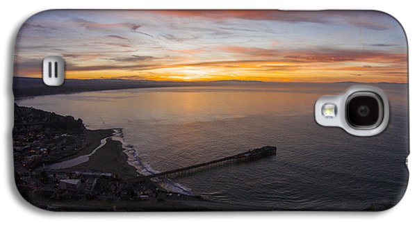 Capitola Wharf Sunrise Galaxy S4 Case by David Levy