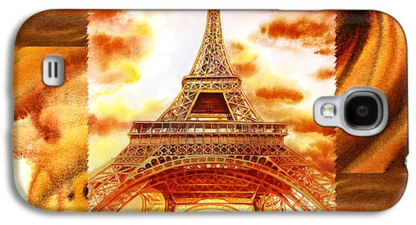Cappuccino In Paris Abstract Collage Eiffel Tower Galaxy S4 Case