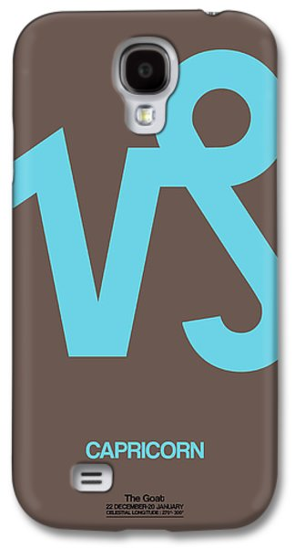Capricorn Zodiac Sign Blue Galaxy S4 Case by Naxart Studio