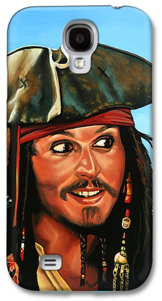 Captain Jack Sparrow Painting Galaxy S4 Case