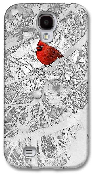 Cardinal In Winter Galaxy S4 Case by Ellen Henneke