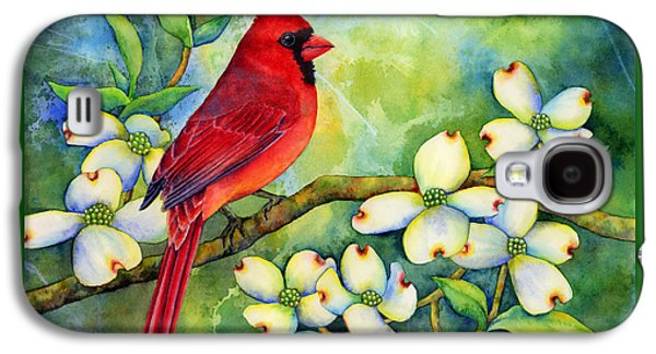 Cardinal On Dogwood Galaxy S4 Case