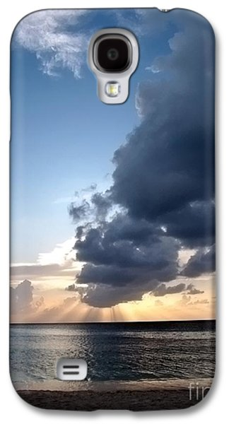 Caribbean Sunset Galaxy S4 Case by Peggy Hughes