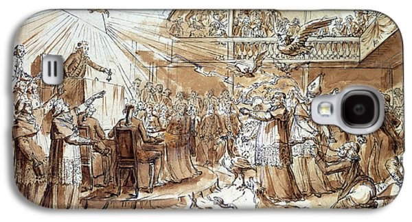 Caricature Of The Clergy At The Constituent Assembly Galaxy S4 Case by Claude Louis Desrais