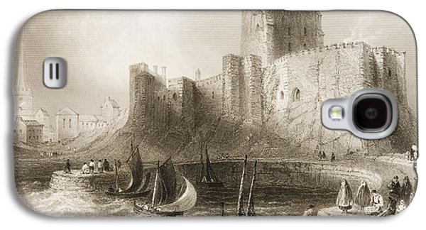 Carrickfergus Castle, County Antrim, Northern Ireland, From Scenery And Antiquities Of Ireland Galaxy S4 Case by William Henry Bartlett