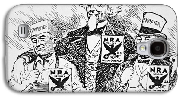 Cartoon Depicting The Impact Of Franklin D Roosevelt  Galaxy S4 Case by American School