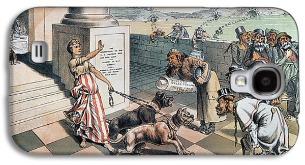 Cartoon Immigration, 1885 Galaxy S4 Case