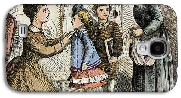 Cartoon Irish Immigrants, 1873 Galaxy S4 Case