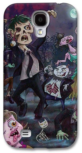 Cartoon Zombie Party Galaxy S4 Case