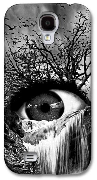 Cascade Crying Eye Grayscale Galaxy S4 Case by Marian Voicu