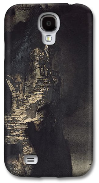 Casquets Lighthouse Galaxy S4 Case by Victor Hugo