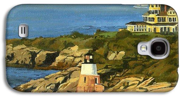 Castle Hill Light And Inn Newport Rhode Island Galaxy S4 Case by Christine Hopkins