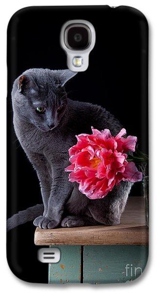 Cat And Tulip Galaxy S4 Case