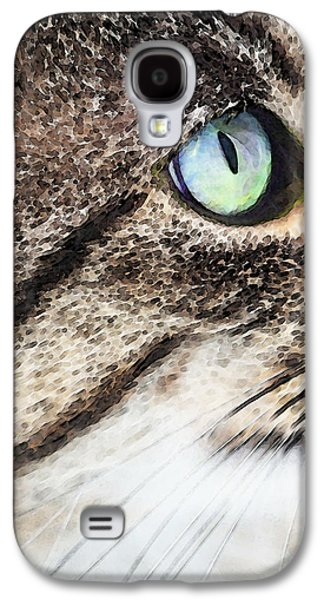 Cat Art - Looking For You Galaxy S4 Case by Sharon Cummings