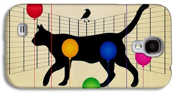 cat Galaxy S4 Case by Mark Ashkenazi