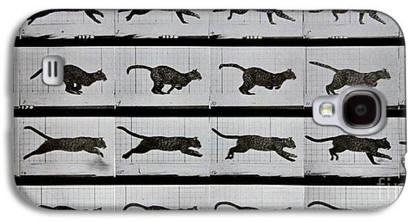 Cat Running Galaxy S4 Case by Eadweard Muybridge