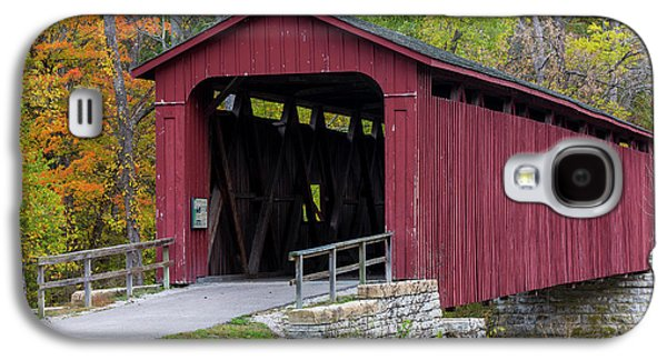 Cataract Covered Bridge Over Mill Creek Galaxy S4 Case by Chuck Haney
