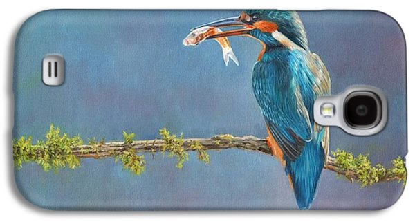 Kingfisher Galaxy S4 Case - Catch Of The Day by David Stribbling