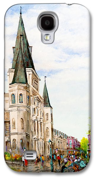 Cathedral Plaza - Jackson Square, French Quarter Galaxy S4 Case by Dianne Parks