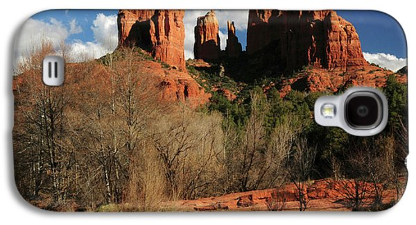 Cathedral Rock At Sunset, Red Rock Galaxy S4 Case by Michel Hersen